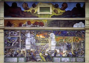 mural of detroit industry by diego rivera