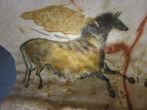 cave painting of an animal